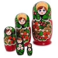 Матрешка 5-и кукольная «Аксиньюшка»