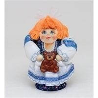 Матрешка-Кукла «Девушка с мишкой»
