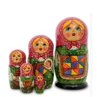 Матрешка 5-и кукольная «Анастасия» МР-24/15