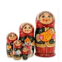 Матрешка 5-и кукольная «Анастасия с ребенком» МР-24/20