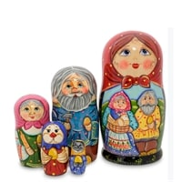 Матрешка-Сказка 5-и кукольная «Курочка-Ряба» МР-24/33