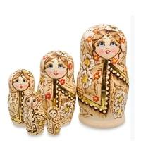 Матрешка 5-и кукольная «Дарья в платке» МР-18/30