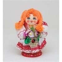 Матрешка-Кукла «Девушка с цветами» A