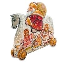 Фигурка резная «Дед Мороз» художественная роспись