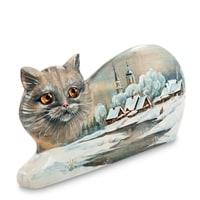 Фигурка резная «Кошка» художественная роспись