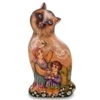 Фигурка резная «Кошечка» художественная роспись