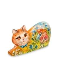Фигурка резная «Кошка Лето» художественная роспись