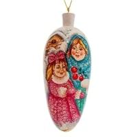 Елоченая игрушка «Зима» художественная роспись