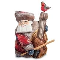 Фигурка Дед Мороз с контрабасом (Резной)