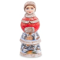 Фигурка Снегурочка с муфтой (Резная)