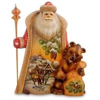 Фигурка Дед Мороз с медведем РД-41 (Резной)