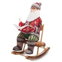 Фигурка Дед Мороз с книгой (Резной)