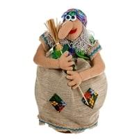 Кукла «Баба-яга на ступе»