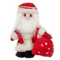 Игрушка лоскутная 'Дед Мороз с мешком'