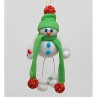 Игрушка лоскутная 'Снеговик'