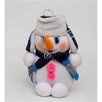 Игрушка лоскутная «Снеговик»