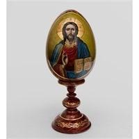 Яйцо-икона «Христа Спасителя» (художник Рябова Г.)
