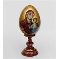 Яйцо-икона «Казанской Божьей Матери» (художник Рябова Г.)