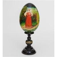 Яйцо расписное «У околицы» (художник Овечкина)