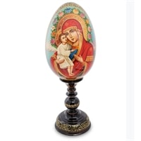 Яйцо-икона «Божией Матери Жировицкая» (художник Овечкина М. В.)
