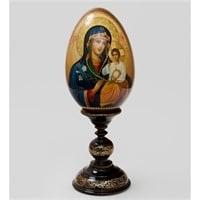 Яйцо-икона «Неувядаемый цвет» (художник Рябов)