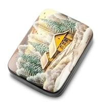 Шкатулка Федоскино «Истринский лес» (художник Болотова) А