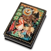 Шкатулка Палех «Жар-птица» (художник Серов)