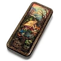Шкатулка Холуй «Рыбачок» (художник Орлова)