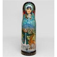 Футляр для бутылки «Снегурочка с оленем»