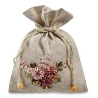 Подарочный мешочек из льна «Летний рассвет» LK-01