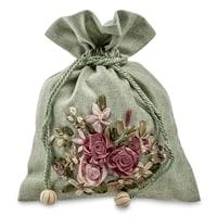 Подарочный мешочек из льна «Летний сад» LK-09