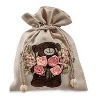 Подарочный мешочек из льна «Нежные чувства» LK-11