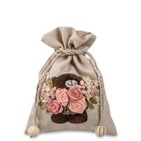 Подарочный мешочек из льна «Нежные чувства» LK-12