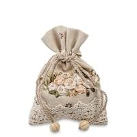 Подарочный мешочек из льна «Оттенки осени» LK-30
