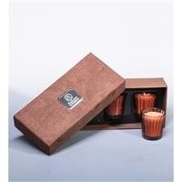 Набор из 3 аромасвечей «Горячий белый шоколад» в подарочной коробке WD-13/1