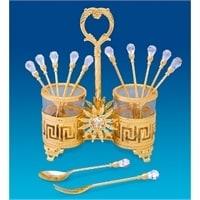 Набор десертных вилочек и ложечек «Версаче дизайн» AR-1335 (Юнион)