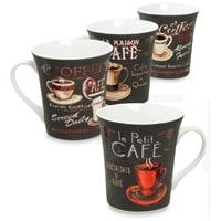 Кофейный набор из фарфора из 4 кружек RX-14