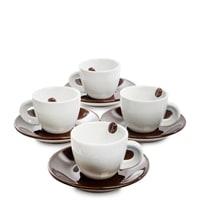 Кофейный набор из фарфора на 4 персоны «Гавайи Кона» FD-02