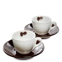 Чайный набор из фарфора на 2 персоны «Для влюбленных в кофе» FD-03