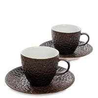 Чайный набор из фарфора на 2 персоны «Ямайка для влюбленных в кофе» FD-08