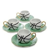 Кофейный набор из фарфора на 4 персоны «Мини Баскетбол» FD-14