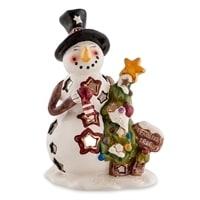 Подсвечник «Снеговик с елкой» BS-517 (Pavone)