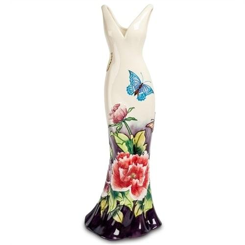 Ваза напольная для цветов из фарфора «Платье» JP-247/19 (Pavone)