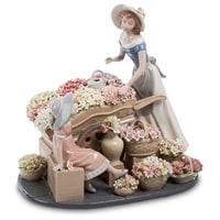 Композиция из фарфора «Девушка с цветами» CMS-20/19 (Pavone)