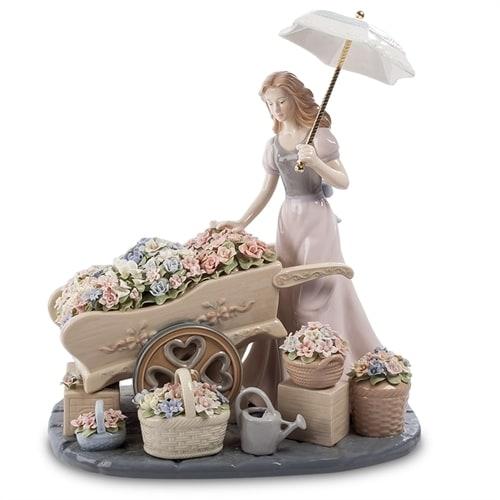 Композиция из фарфора «Девушка с цветами» CMS-20/20 (Pavone)