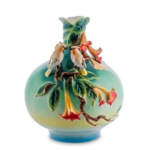 Ваза для цветов из фарфора «Цветы Дурмана» FM-52 (Pavone)