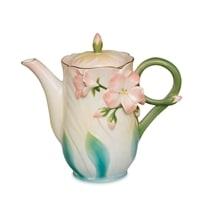 Заварочный чайник из фарфора «Герань» FM-61/1 (Pavone)