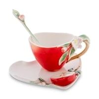 Чайная пара из фарфора «Яблоко» FM-01/31 (Pavone)