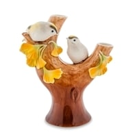 Вазочка для цветов из фарфора «Чудо-растение Гинкго» FM-72/3 (Pavone)