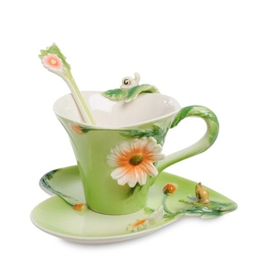 Чайная пара из фарфора «Аризема» FM-01/33 (Pavone)